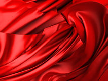 Smooth elegant red silk satin luxury cloth texture background Stock Image