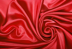 Smooth elegant red silk or satin texture as background Royalty Free Stock Photo