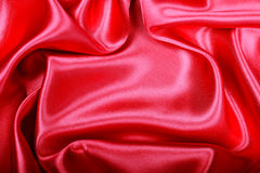 Smooth elegant red silk or satin texture as background Royalty Free Stock Images