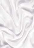 Smooth elegant white silk Stock Photography