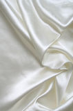 Smooth elegant white silk as background Stock Image