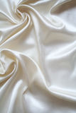 Smooth elegant white silk as background Stock Photography
