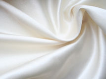 Smooth elegant white silk as background Royalty Free Stock Photography