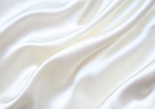 Smooth elegant white silk as background Royalty Free Stock Images
