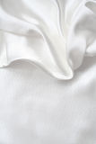 Smooth elegant white silk as wedding background Royalty Free Stock Photos