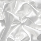 Smooth elegant white silk as wedding background Royalty Free Stock Image