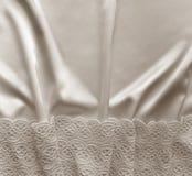 Smooth elegant white silk background. Elegant white background w Stock Photo