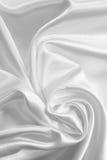 Smooth elegant white silk or satin as wedding background Stock Photo