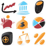 Smooth finance icons Royalty Free Stock Photo