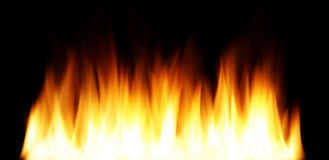 Smooth fire. Very smooth fire on black Royalty Free Stock Images
