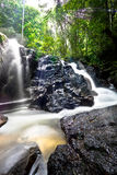 Smooth flowing waterfall Stock Image