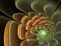Smooth fractal flower Royalty Free Stock Images
