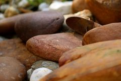 Smooth Garden Rocks Royalty Free Stock Photography