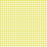 Smooth Gingham Seamless Pattern. Smooth yellow and white classic gingham texture vector illustration