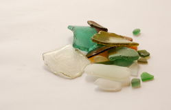 Smooth glass. Smooth colorful pieces of seaglass Stock Photo