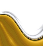 Smooth Gold Waves royalty free illustration