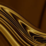 Smooth golden wave Royalty Free Stock Images