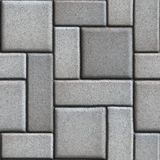 Smooth Gray Paving Slabs as of Rectangles and Royalty Free Stock Photos
