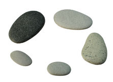 Smooth gray pebbles Stock Photos