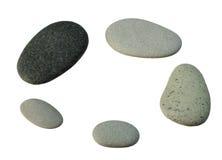 Smooth gray pebbles Stock Photos