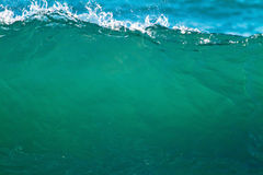 Smooth green wave Stock Photography