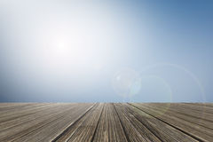 Smooth image style with abstract nature background and wood floo Royalty Free Stock Image
