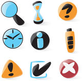 Smooth Interface Icons Stock Photography