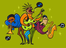 Cartoon caricature of musicians Royalty Free Stock Photo