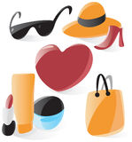 Smooth ladies icons Royalty Free Stock Photography