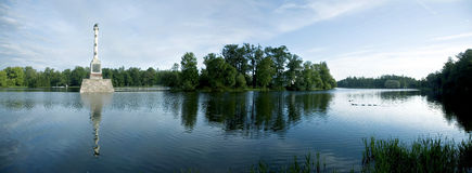 THe Smooth lake in Tsarskoye Selo Stock Photo