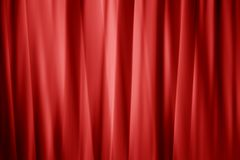 Smooth layered red curtain Royalty Free Stock Image