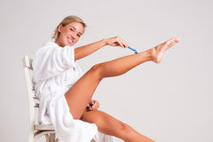 Smooth legs. Stock Images