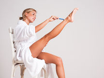 Smooth legs. Royalty Free Stock Photo