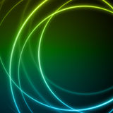 Smooth light blue green waves lines  abstract background. Stock Photo
