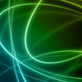 Smooth light blue green waves lines  abstract background. Stock Image