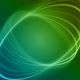 Smooth light blue green waves lines vector abstract background. Stock Image
