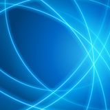 Smooth light blue waves lines  abstract background. Royalty Free Stock Image