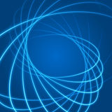 Smooth light blue waves lines  abstract background. Technology Background. Glowing effects Stock Images