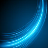 Smooth light blue waves lines  abstract background. Technology Background. Glowing effects Stock Photos