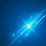 Smooth light blue waves lines and Lens Flares  abstract background. Good for promotion materials, brochures, banners. Abstract Backdrop, Glowing effects Royalty Free Stock Images