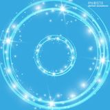 Smooth light blue waves lines and Lens Flares vector abstract background. Good for promotion materials, brochures Royalty Free Stock Image
