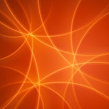 Smooth light orange waves lines  abstract background. Royalty Free Stock Images