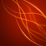 Smooth light orange waves lines  abstract background. Technology Background. Glowing effects Royalty Free Stock Photography