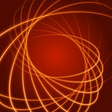 Smooth light orange waves lines  abstract background. Technology Background. Glowing effects Royalty Free Stock Photo