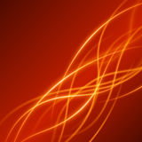 Smooth light orange waves lines  abstract background. Technology Background. Glowing effects Royalty Free Stock Images