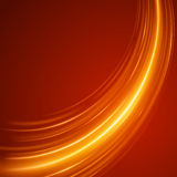 Smooth light orange waves lines  abstract background. Technology Background. Glowing effects Stock Images