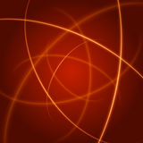 Smooth light orange waves lines  abstract background. Technology Background. Glowing effects Royalty Free Stock Image