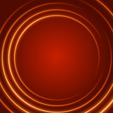 Smooth light orange waves lines  abstract background. Technology Background. Glowing effects Stock Photos