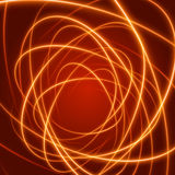 Smooth light orange waves lines  abstract background. Technology Background. Glowing effects Stock Image