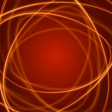 Smooth light orange waves lines  abstract background. Technology Background. Glowing effects Stock Photography